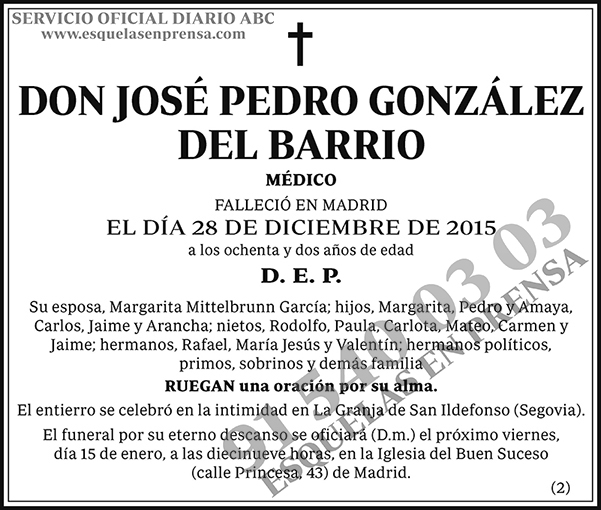 José Pedro González del Barrio